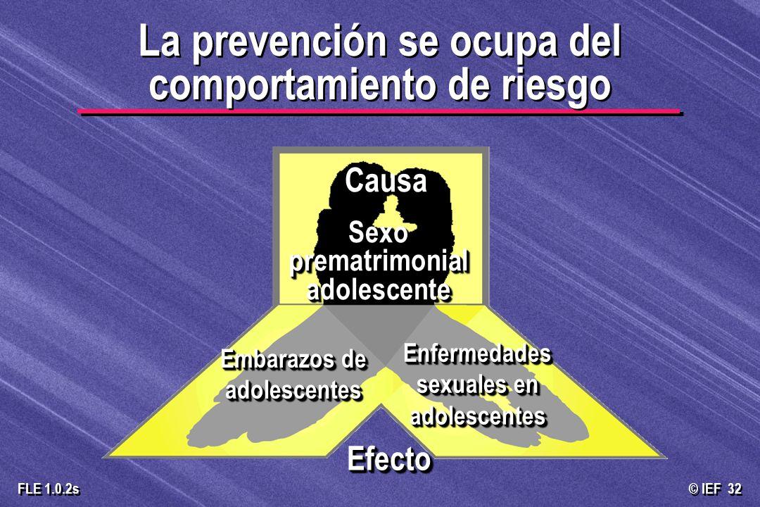 La prevención se ocupa del comportamiento de riesgo