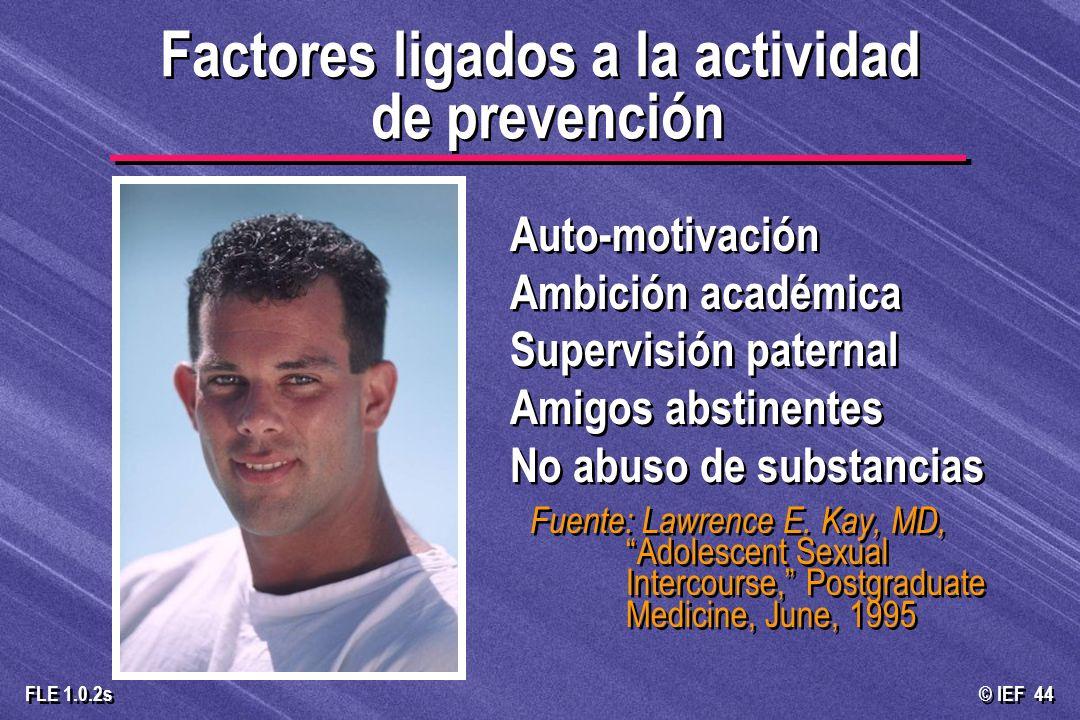 Factores ligados a la actividad de prevención
