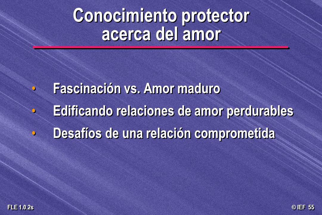 Conocimiento protector acerca del amor