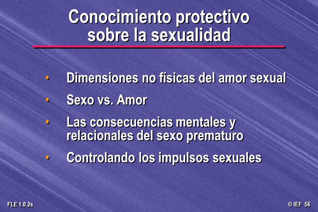 Conocimiento protectivo sobre la sexualidad