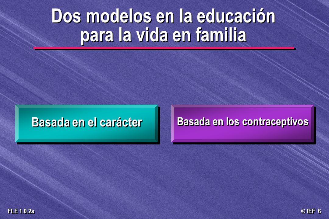 Dos modelos en la educación para la vida en familia