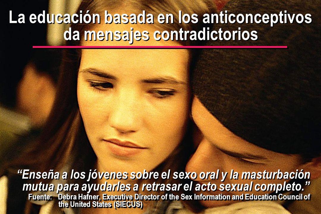 La educación basada en los anticonceptivos da mensajes contradictorios