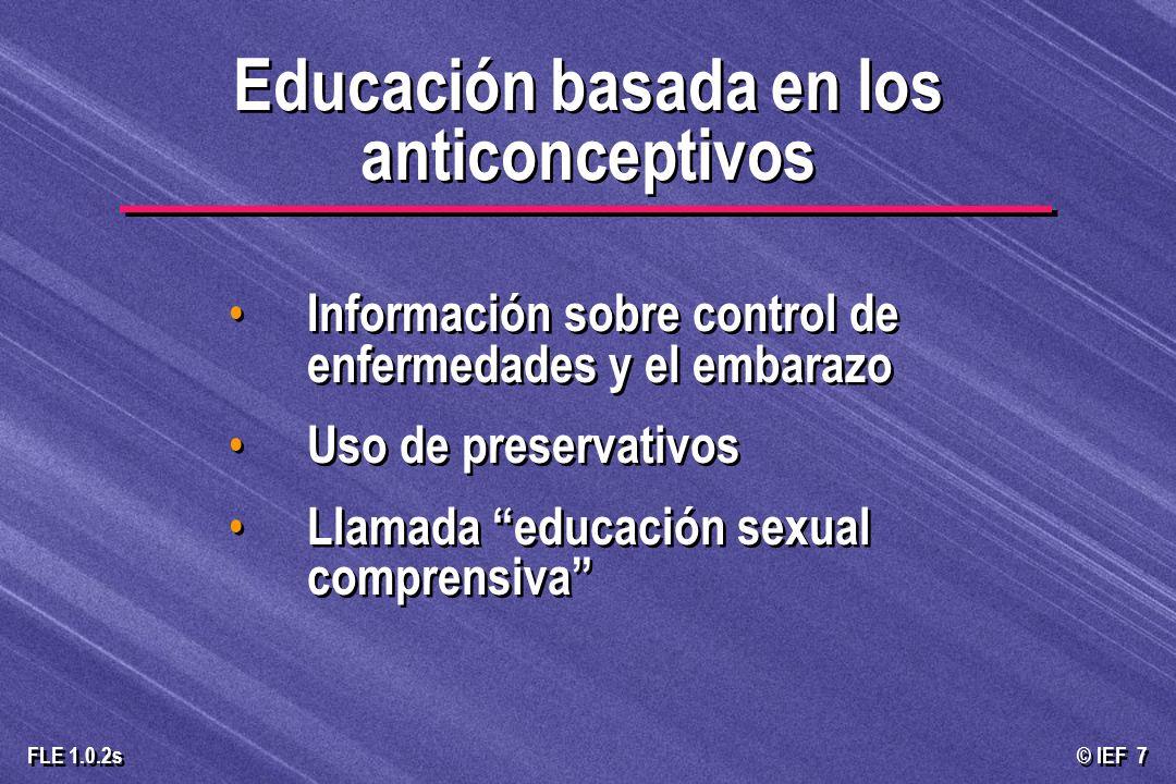 Educación basada en los anticonceptivos