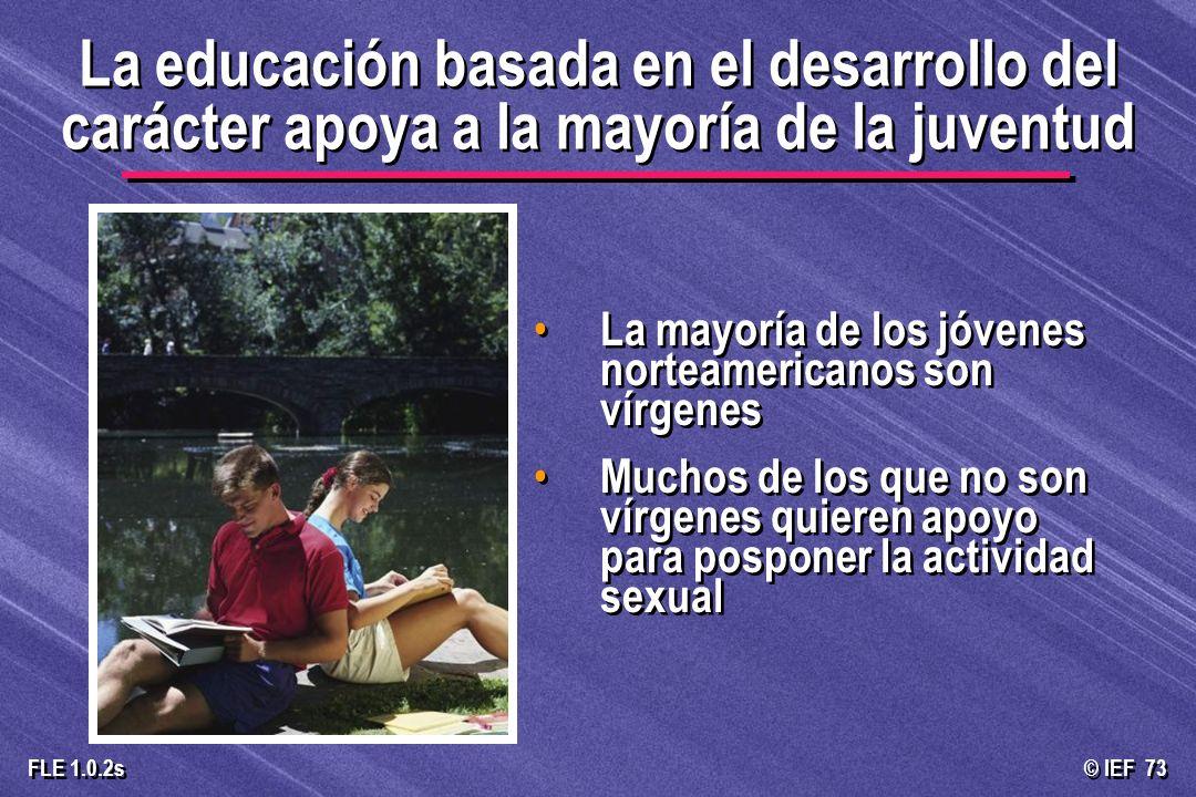 La educación basada en el desarrollo del carácter apoya a la mayoría de la juventud