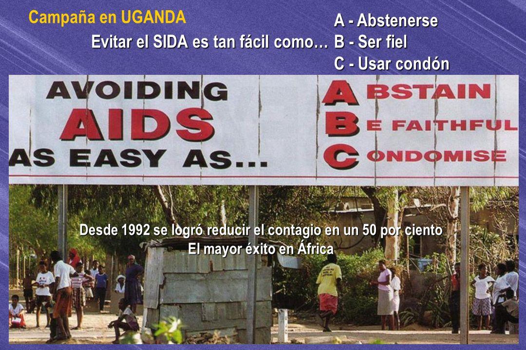 Evitar el SIDA es tan fácil como…