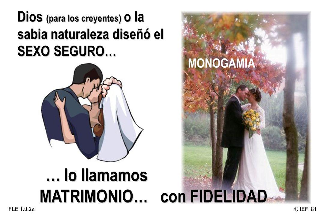 … lo llamamos MATRIMONIO… con FIDELIDAD