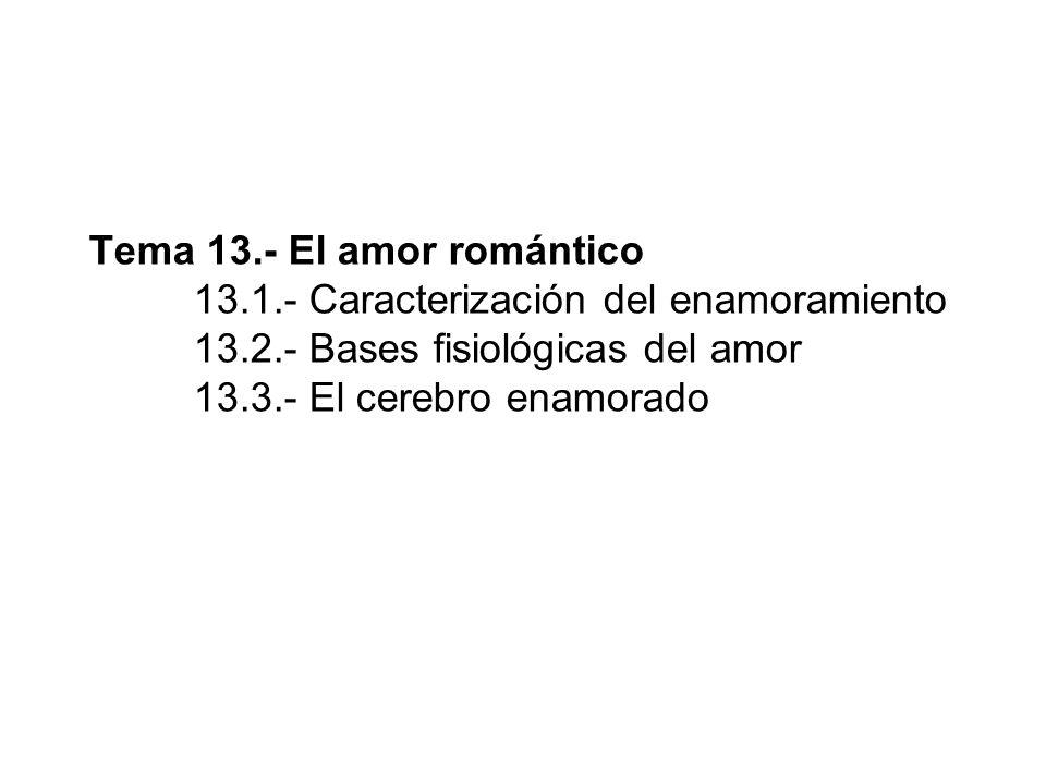 Tema 13. - El amor romántico. 13. 1