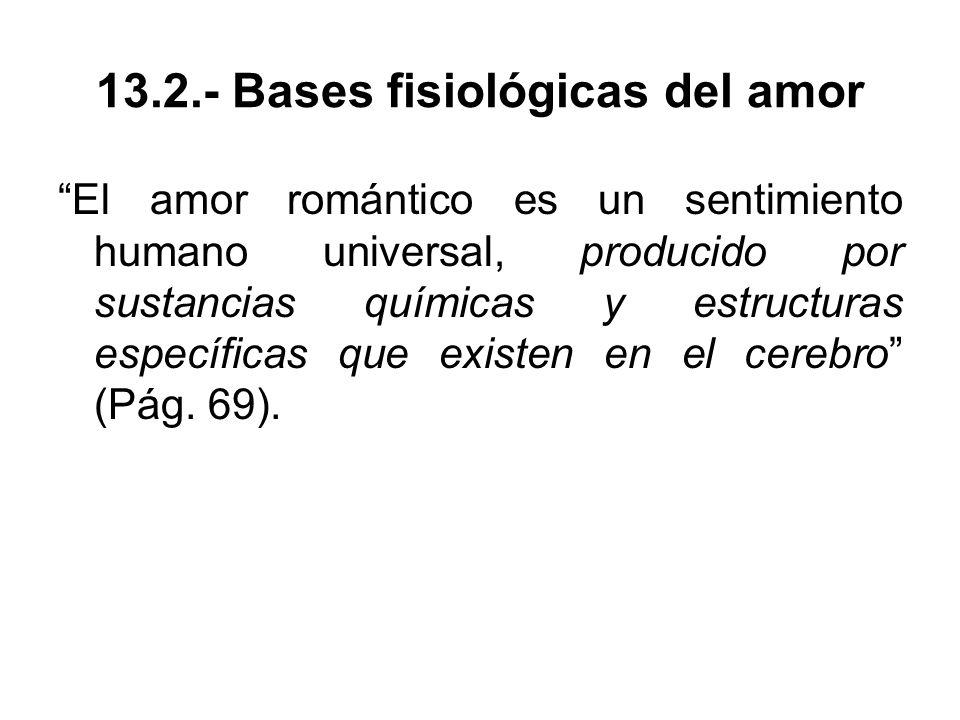 13.2.- Bases fisiológicas del amor