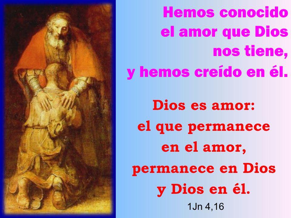 Hemos conocido el amor que Dios nos tiene, y hemos creído en él.