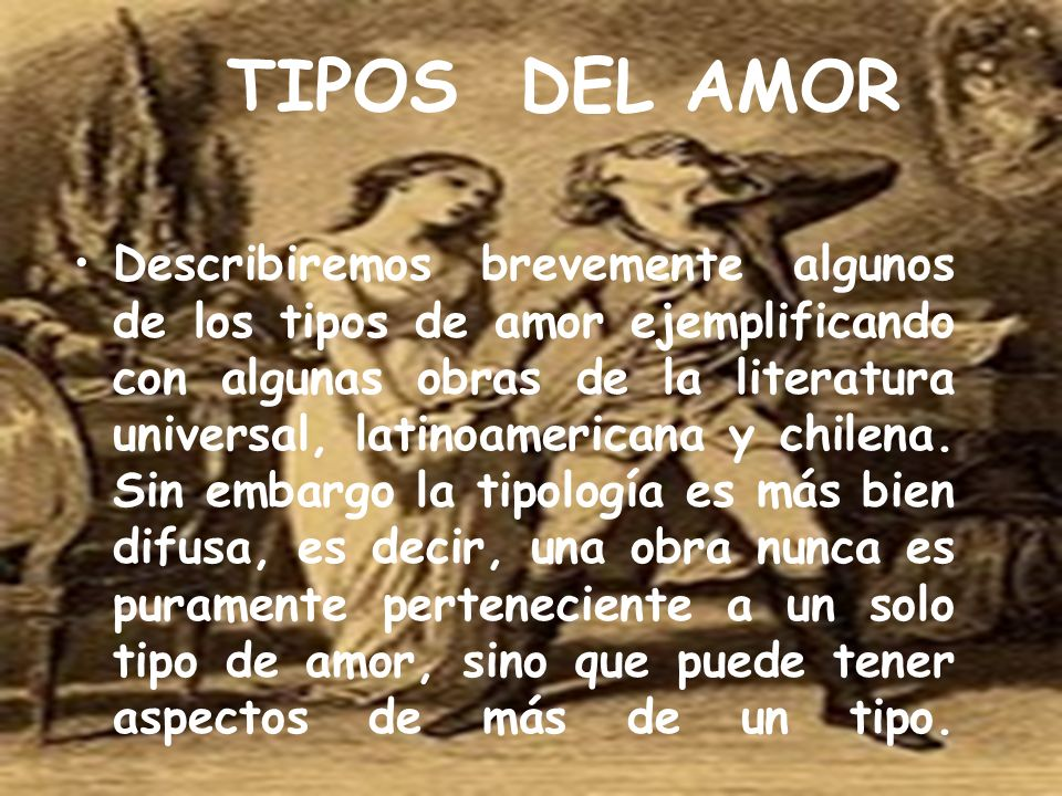 TIPOS DEL AMOR