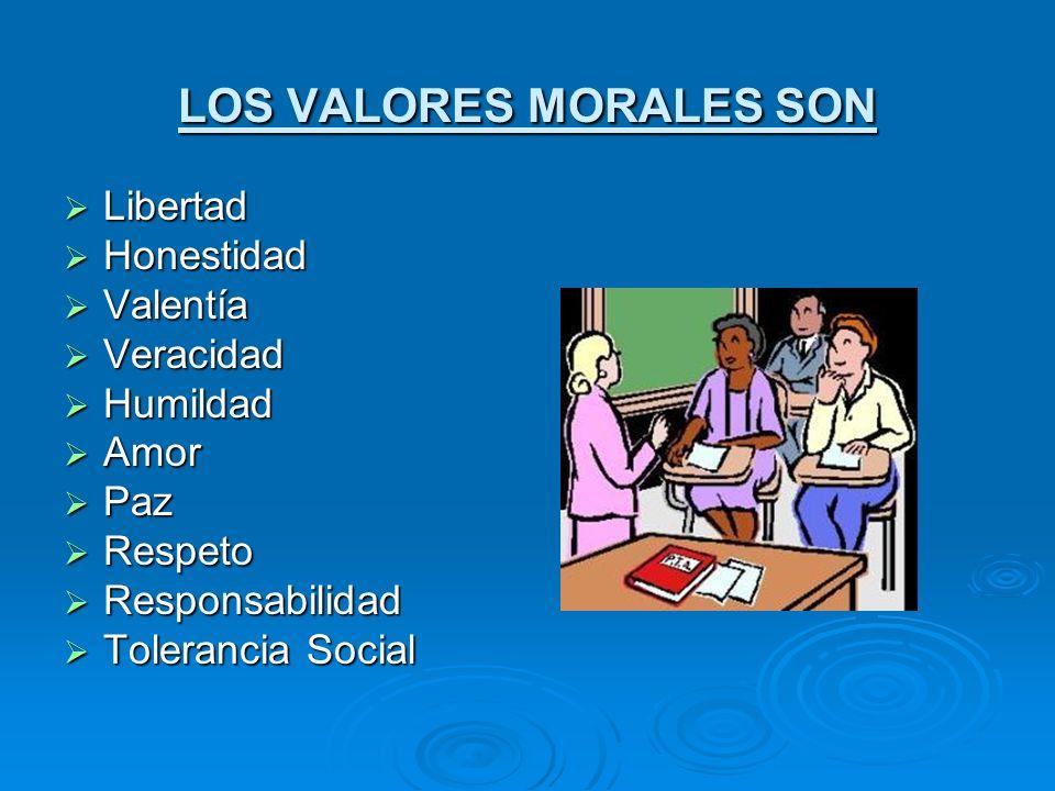 LOS VALORES MORALES SON