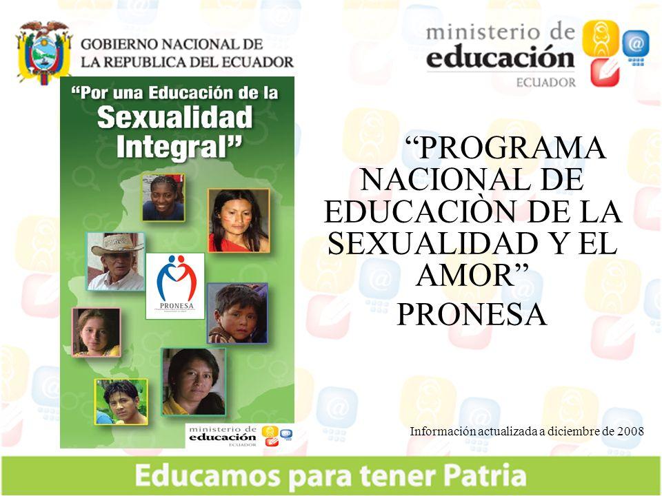 PROGRAMA NACIONAL DE EDUCACIÒN DE LA SEXUALIDAD Y EL AMOR