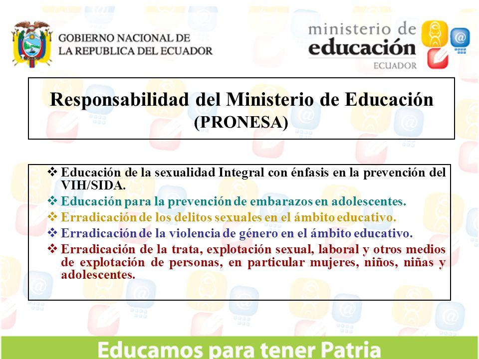 Responsabilidad del Ministerio de Educación (PRONESA)