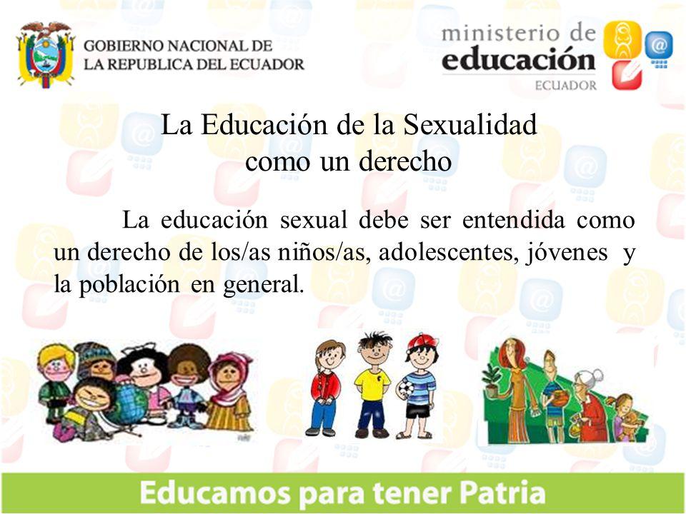 La Educación de la Sexualidad como un derecho