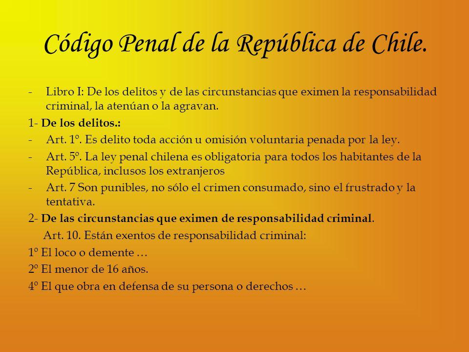 Código Penal de la República de Chile.