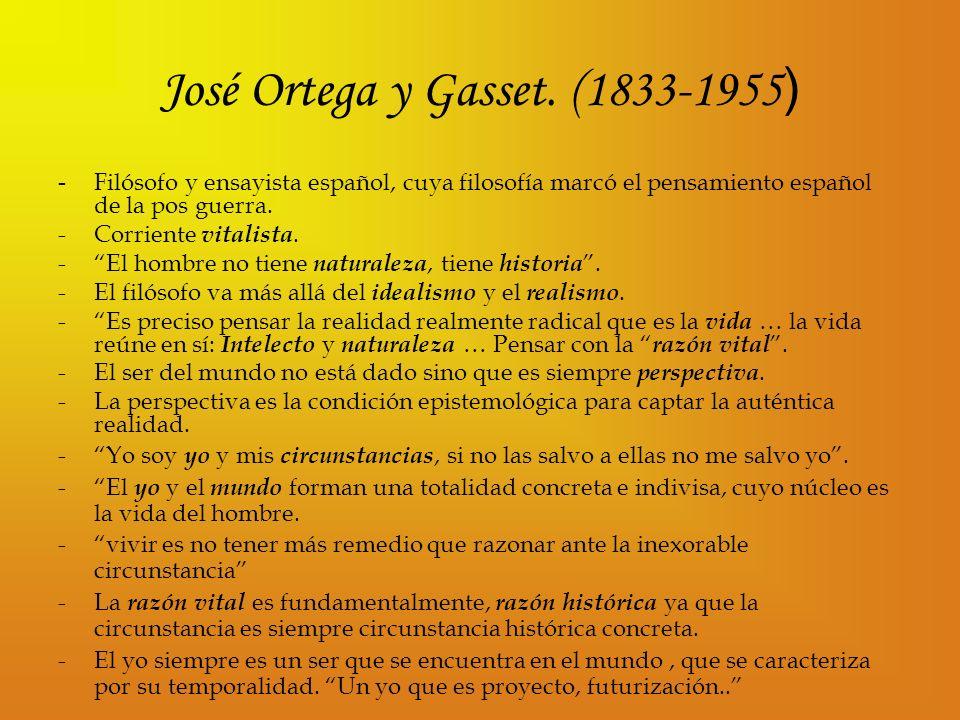 José Ortega y Gasset. (1833-1955)