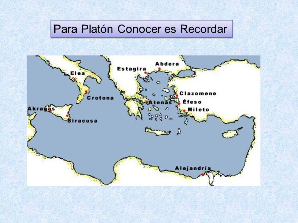 Para Platón Conocer es Recordar