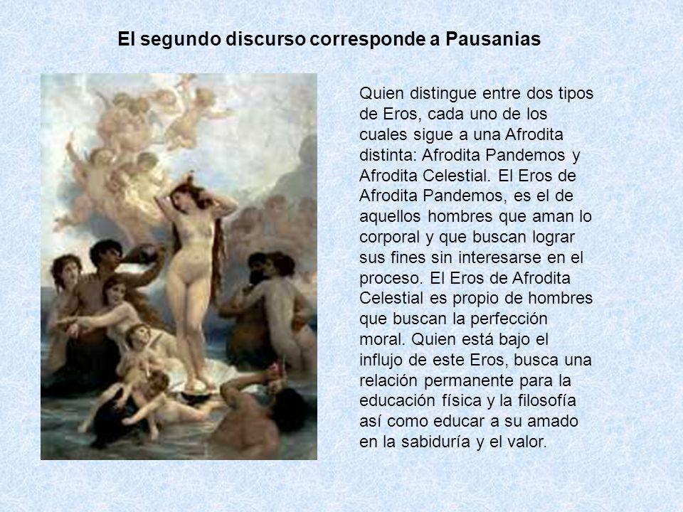 El segundo discurso corresponde a Pausanias