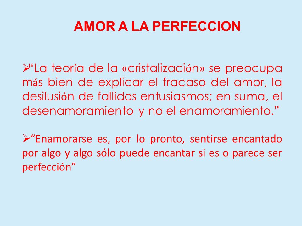 AMOR A LA PERFECCION
