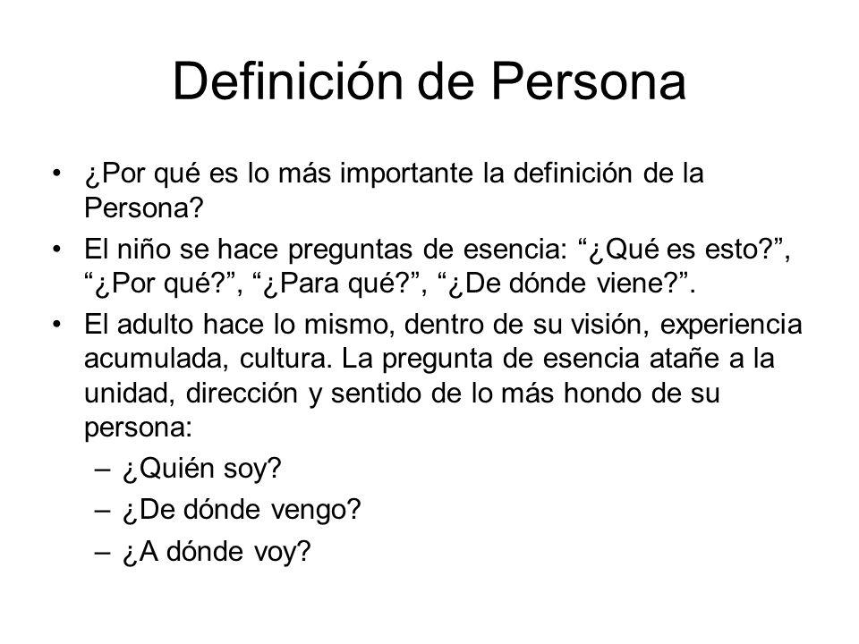 Definición de Persona ¿Por qué es lo más importante la definición de la Persona