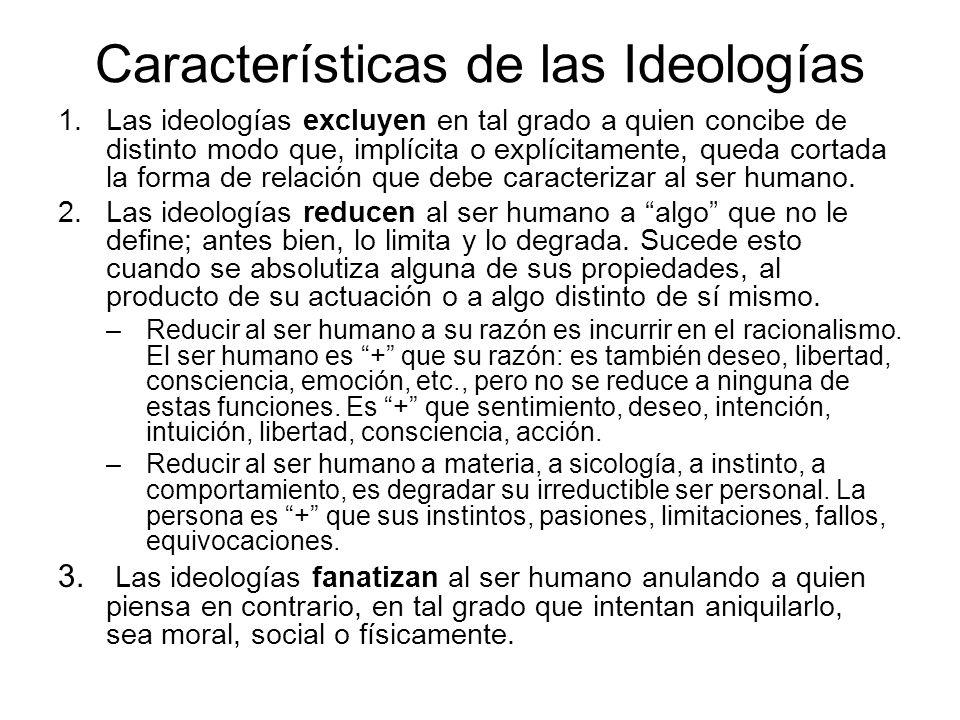 Características de las Ideologías