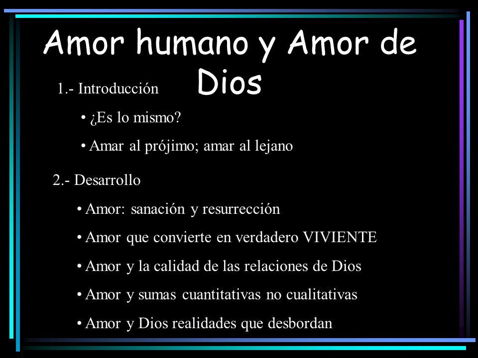 Amor humano y Amor de Dios