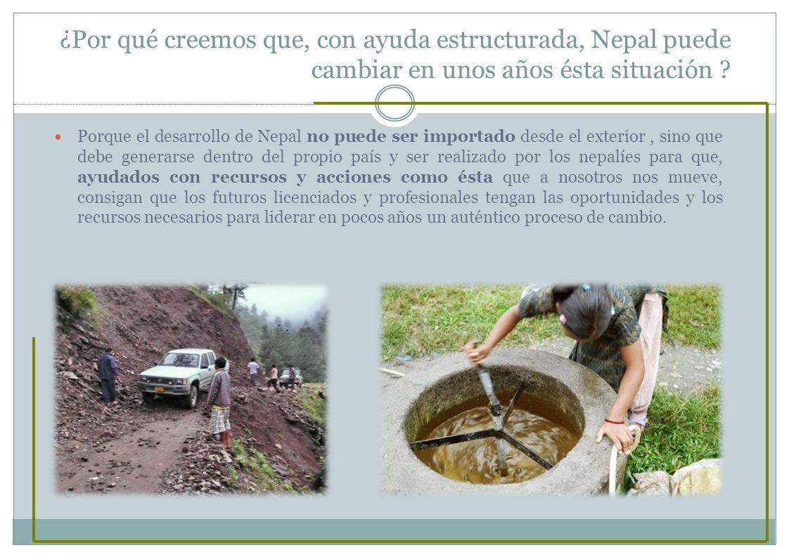¿Por qué creemos que, con ayuda estructurada, Nepal puede cambiar en unos años ésta situación