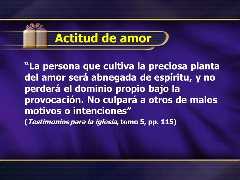 Actitud de amor