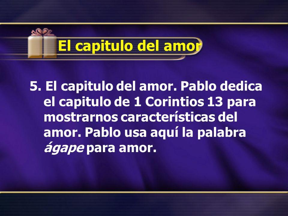 El capitulo del amor