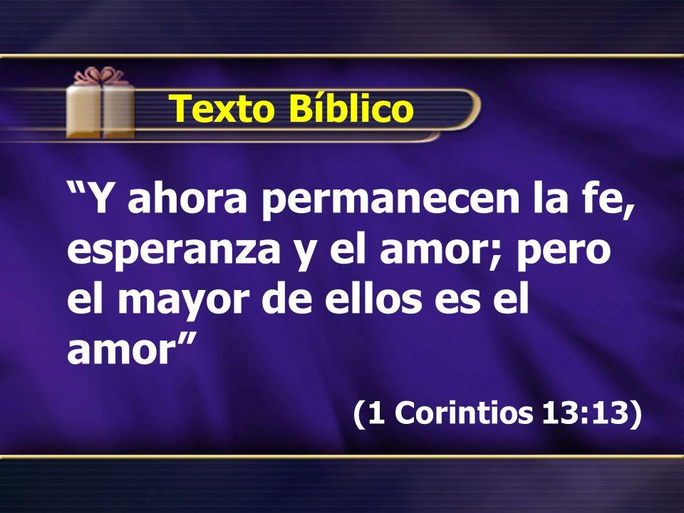 (1 Corintios 13:13) Texto Bíblico