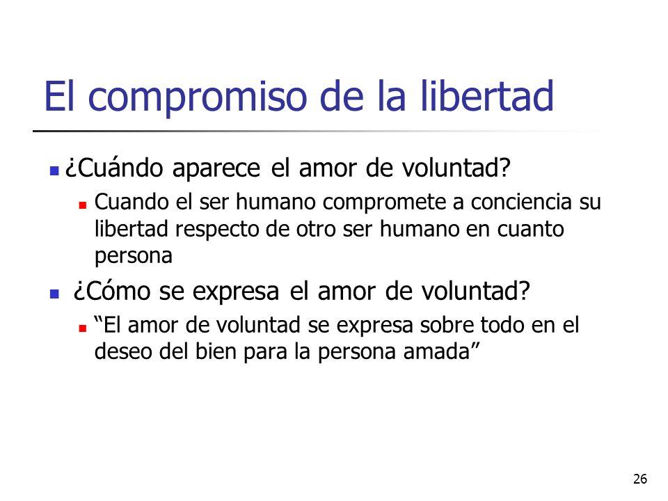 El compromiso de la libertad