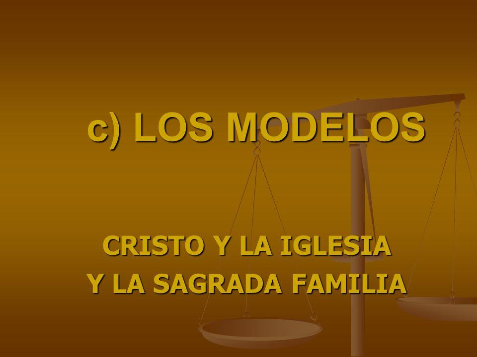 CRISTO Y LA IGLESIA Y LA SAGRADA FAMILIA