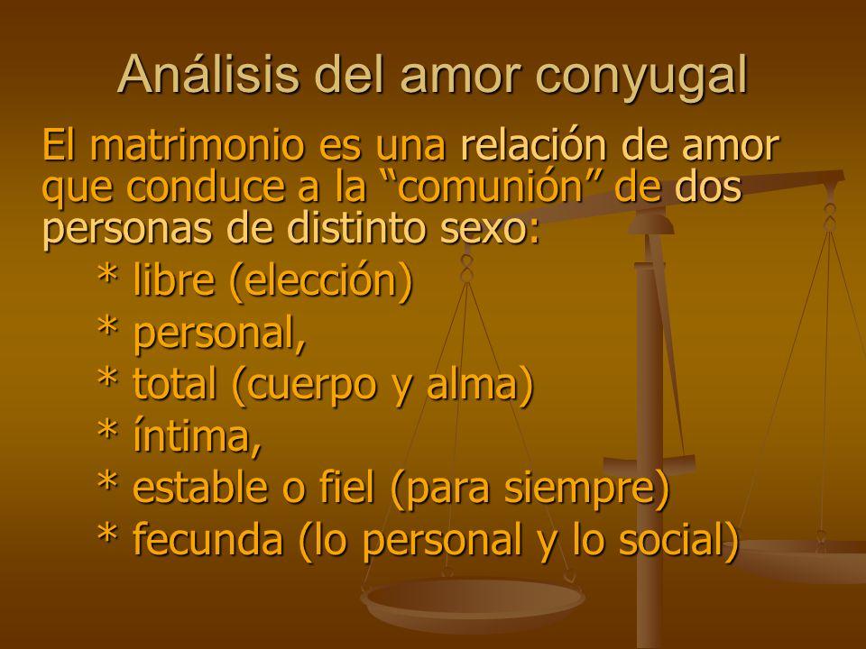 Análisis del amor conyugal