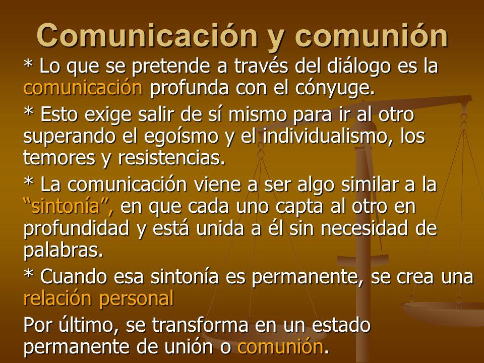 Comunicación y comunión
