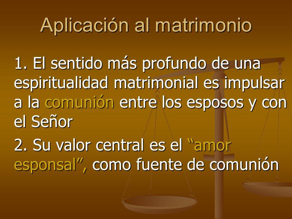 Aplicación al matrimonio