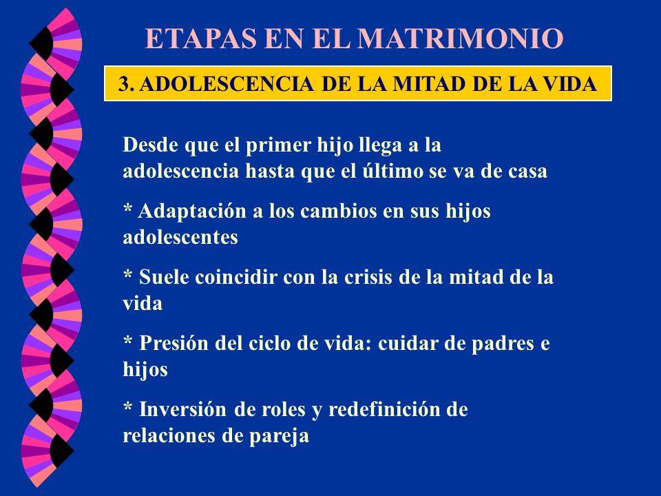 3. ADOLESCENCIA DE LA MITAD DE LA VIDA