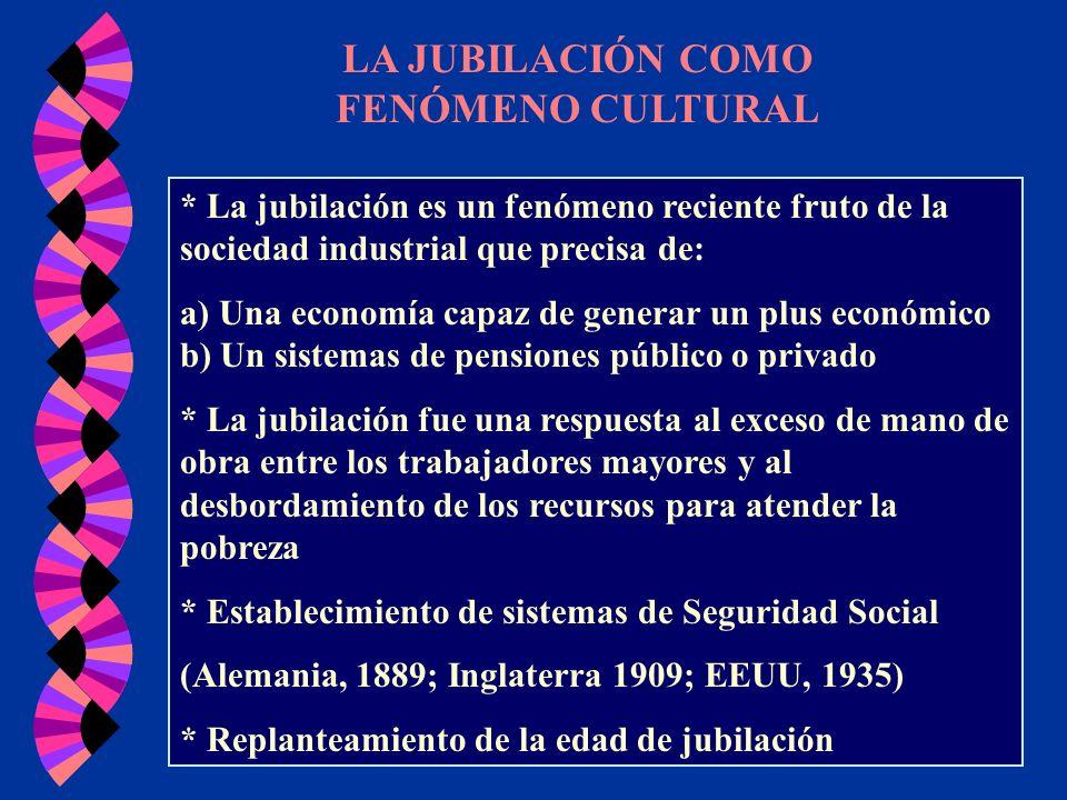 LA JUBILACIÓN COMO FENÓMENO CULTURAL