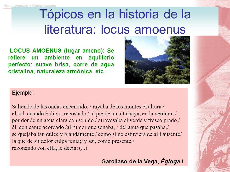 Tópicos en la historia de la literatura: locus amoenus
