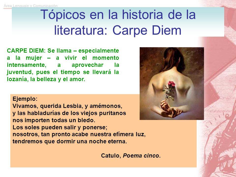 Tópicos en la historia de la literatura: Carpe Diem