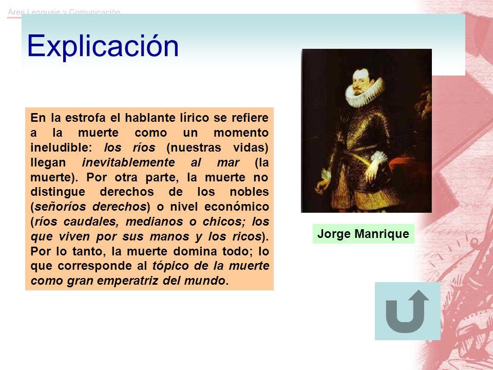 Explicación Jorge Manrique.