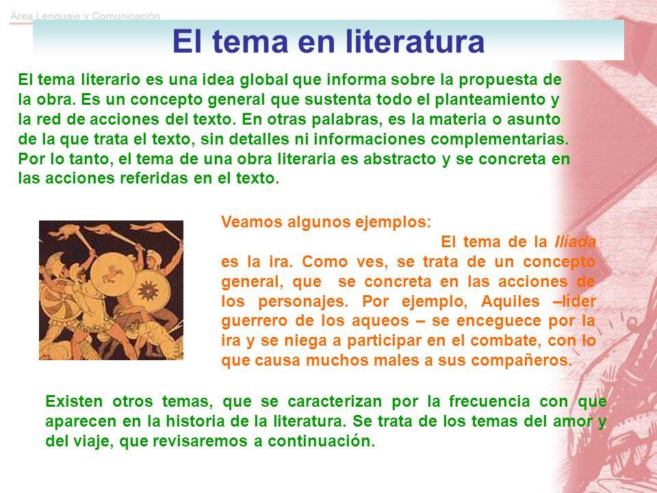El tema en literatura