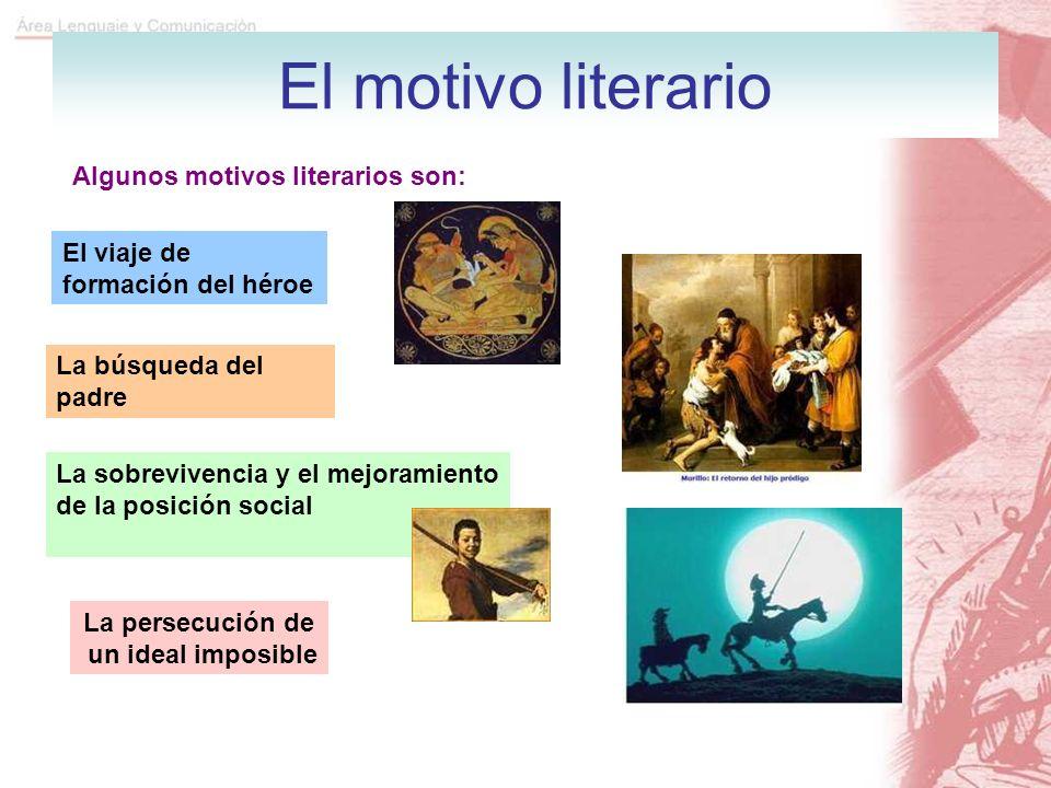 El motivo literario Algunos motivos literarios son:
