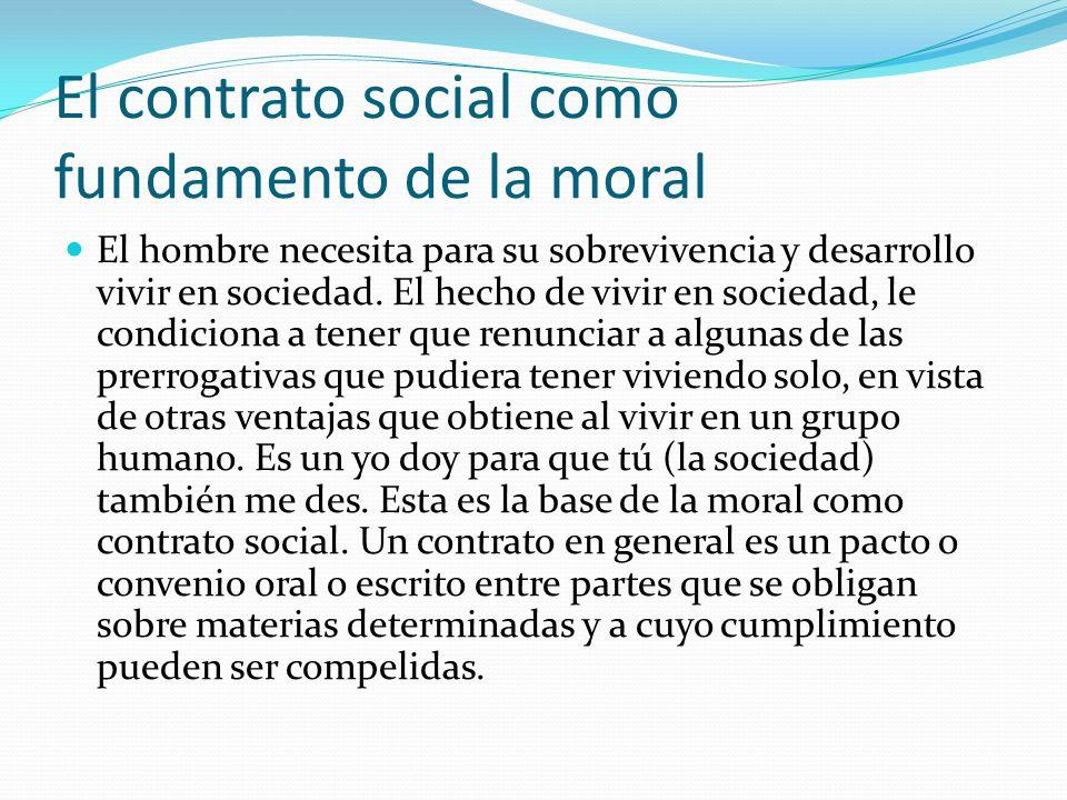 El contrato social como fundamento de la moral