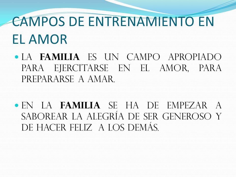 CAMPOS DE ENTRENAMIENTO EN EL AMOR