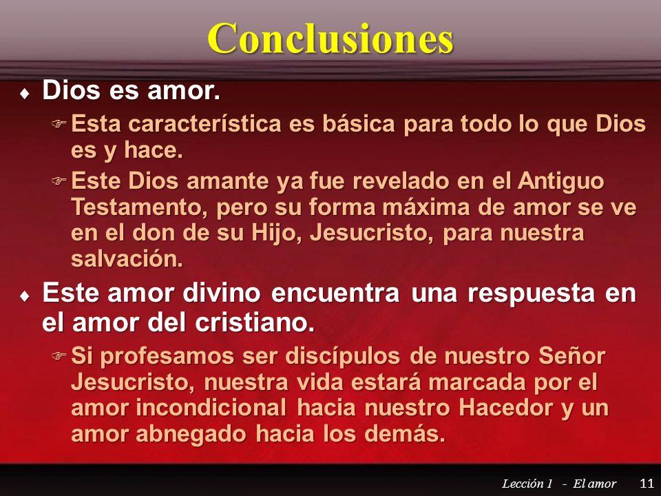 Conclusiones Dios es amor.