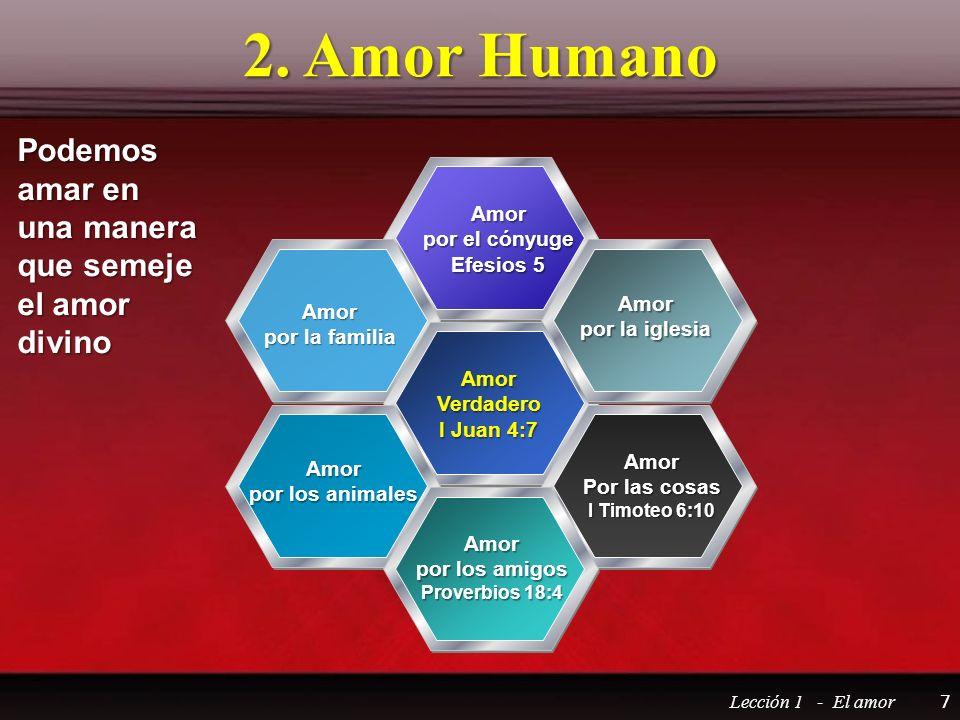2. Amor Humano Podemos amar en una manera que semeje el amor divino
