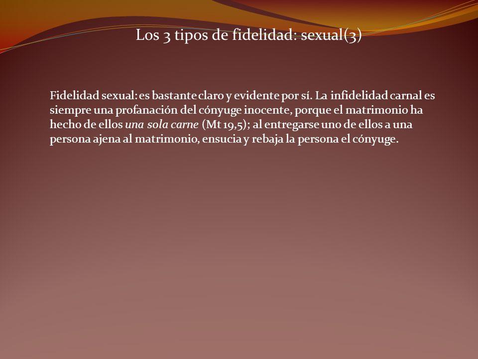 Los 3 tipos de fidelidad: sexual(3)