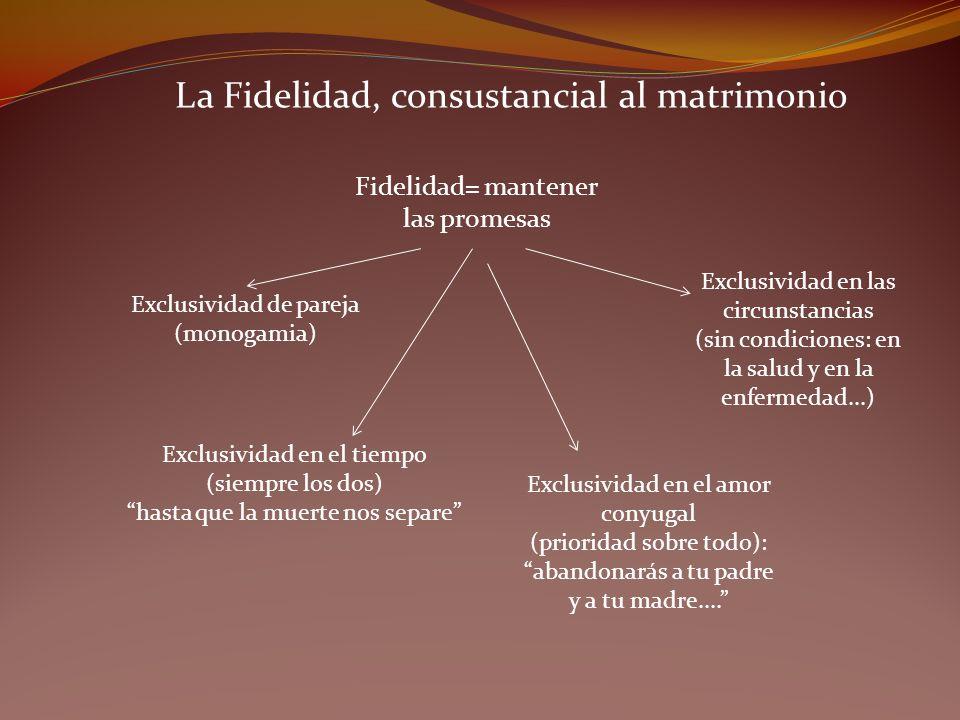 La Fidelidad, consustancial al matrimonio