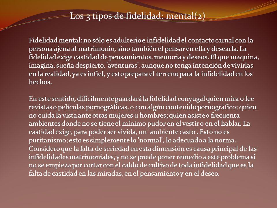 Los 3 tipos de fidelidad: mental(2)