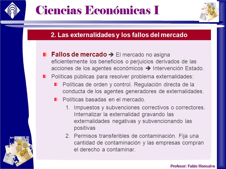 2. Las externalidades y los fallos del mercado